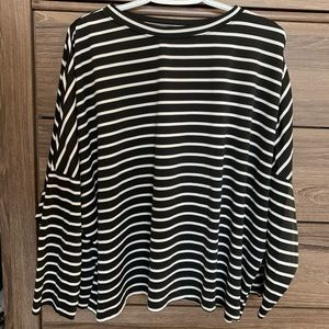 Tops - Stripped Long Baggy Sleeve